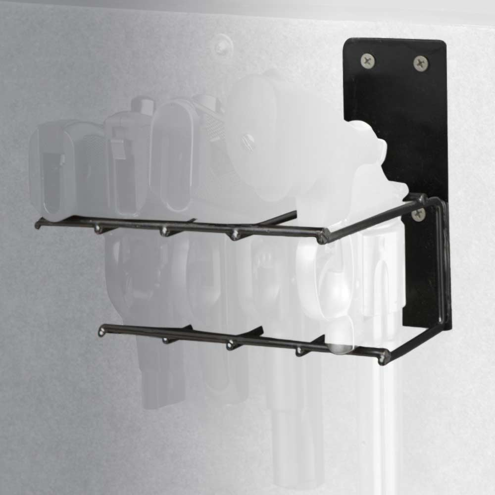The Holster Gun Safe Rack - 4 Pistols, Black