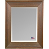 Wall Mirror - Barnwood Brown & Cinnamon Frame, Beveled Glass - RAY-R017