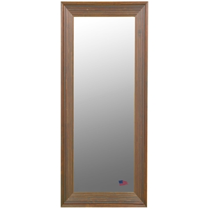 Rectangular Mirror - Barnwood Brown & Cinnamon Finished Frame