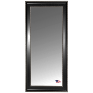 Rectangular Mirror - Black & Silver Caged Trim Frame