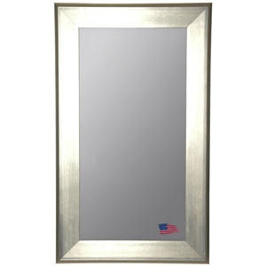 Rectangular Mirror - Brushed Silver Frame