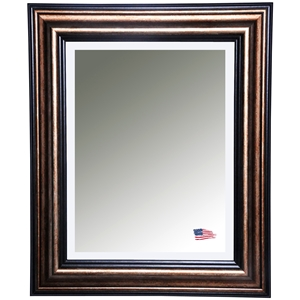 Hanging Mirror - Copper Frame & Canyon Black Trim, Beveled Glass