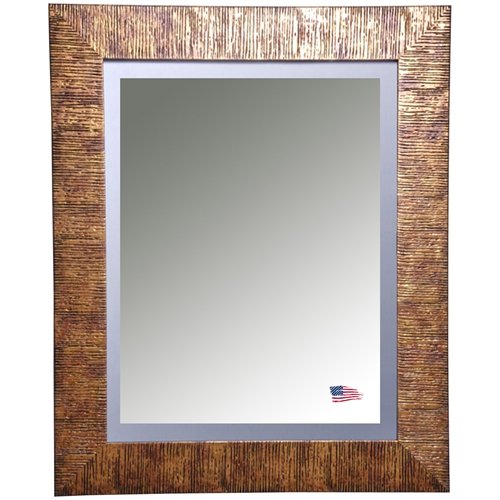 Hanging Mirror Safari Bronze Frame Beveled Gl Dcg S