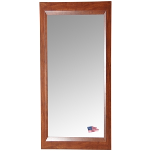 Rectangular Mirror - Walnut Finished Frame