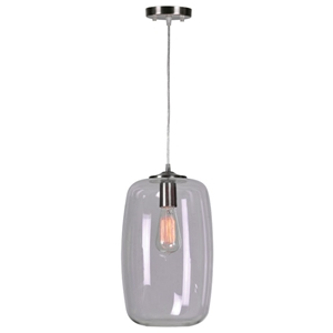 Nelson Pendant Lamp - Clear Glass Shade, Retro Bulb
