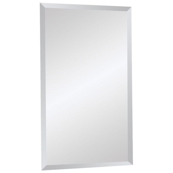 Rectangular Contemporary Mirror - Beveled, Frameless