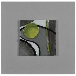 Motion II Wall Art - Abstract, Molded Glass, Square