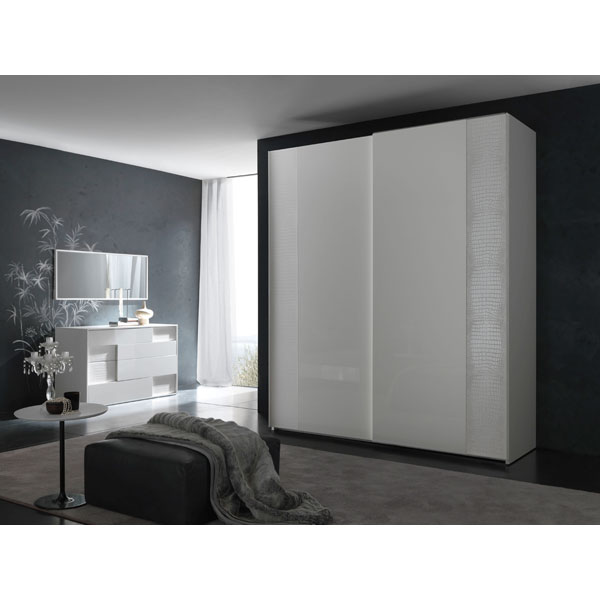 Nightfly Sliding 2 Door Wardrobe Armoire