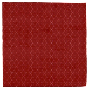 Avenue - Red & White Rug