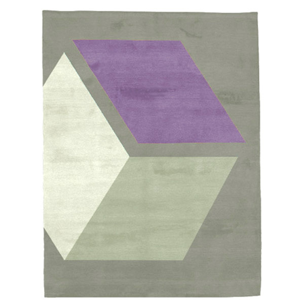 Cubizzmo No.3- Beige & Purple Rug