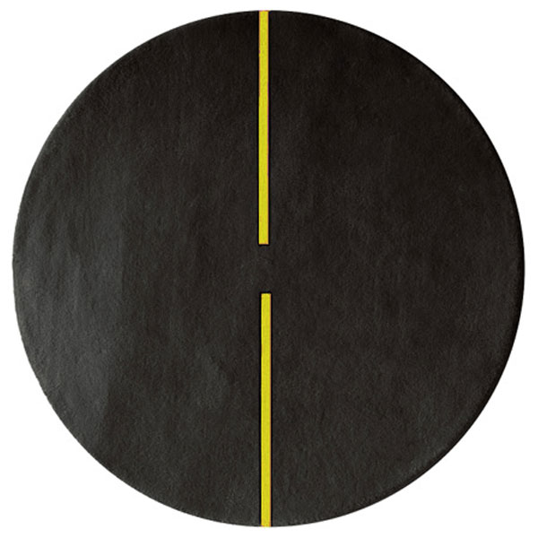 Lightsonic - Charcoal & Yellow Rug