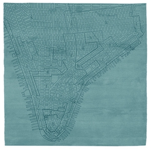 Lower Manhattan No.2 - Blue Rug