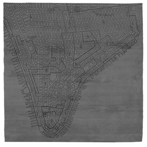 Lower Manhattan No.2 - Dark Grey Rug