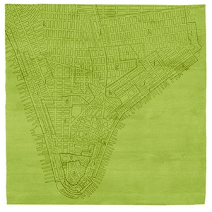 Lower Manhattan No.2 - Green Rug