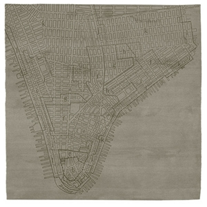 Lower Manhattan No.2 - Mink Beige Rug