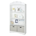 Tiara 4 Shelves Bookcase - Pure White - SS-10002