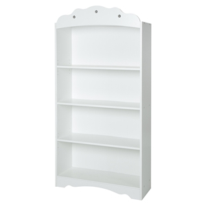 Tiara 4 Shelves Bookcase - Pure White