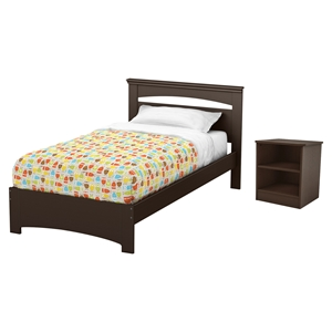 Libra Twin Bedroom Set - Chocolate