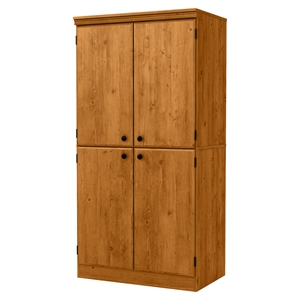 Morgan 4 Doors Storage Cabinet - Country Pine