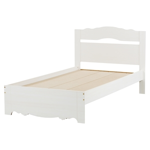 Lily Rose Twin Platform Bed - White Wash