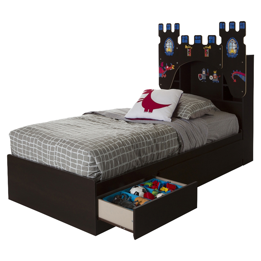 artwork for bedroom vito bookcase headboard with decals castle theme 10100