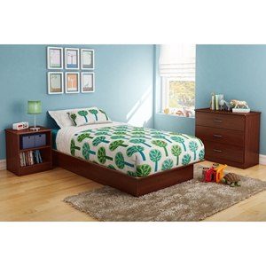 Libra Twin Platform Bedroom Set - Royal Cherry