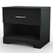Step One Black Nightstand - SS-3107062