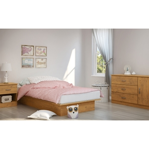 Libra Twin Platform Bedroom Set - Country Pine