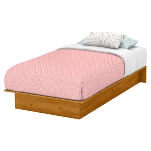 Libra Twin Platform Bed - Country Pine
