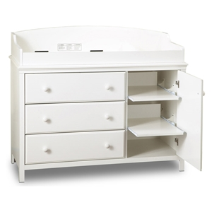 Cotton Candy White 3-Drawer Changing Table