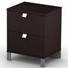Cacao Modern 2-Drawer Nightstand