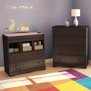 Savannah Espresso Chest and Changing Table Set