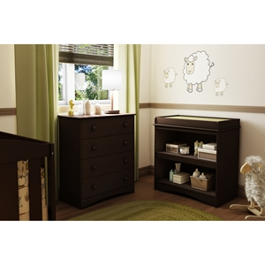 Peek-a-boo Changing Table - Espresso