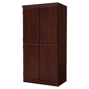 Morgan 4 Doors Storage Cabinet - Royal Cherry