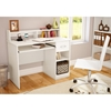 Axess Pure White Desk with Low Hutch - SS-7250076C