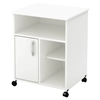 Axess Microwave Cart - Storage, Wheels, Pure White