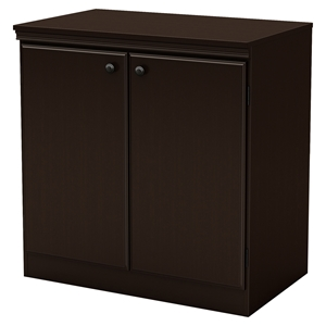 Morgan Storage Cabinet - 2 Doors, Chocolate