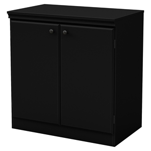 Morgan Storage Cabinet - 2 Doors, Pure Black
