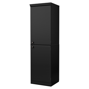 Morgan Narrow Storage Cabinet - Pure Black