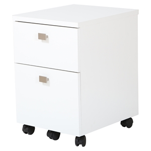 Interface Mobile File Cabinet - 2 Drawers, Pure White