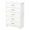 Fusion Chest - 5 Drawers, Pure White