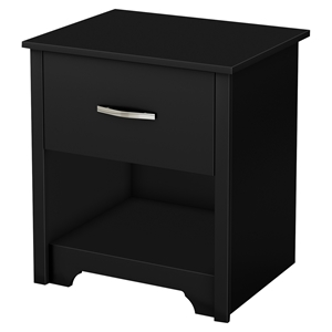 Fusion Nightstand - 1 Drawer, Pure Black