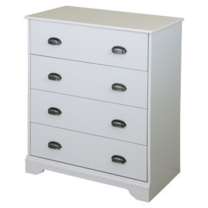 Fundy Tide Chest - 4 Drawers, Pure White