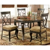 Hamlyn 5 Piece Dinette Set with Marble Top Table