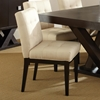 Brand-new Tiffany 7 Piece Dining Set - Espresso, Beige Tufted Dining Chairs  CV04