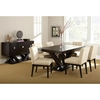 Favorite Tiffany 7 Piece Dining Set - Espresso, Beige Tufted Dining Chairs  BM24