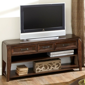 Wellington TV Stand / Console Table - 3 Drawers, Espresso Finish