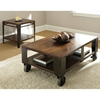 Barrett Square End Table - Wood, Antiqued Metal - SSC-BR200E