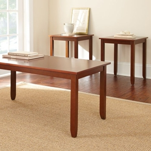Abaco 3 Piece Occasional Tables Set - Cherry Finish