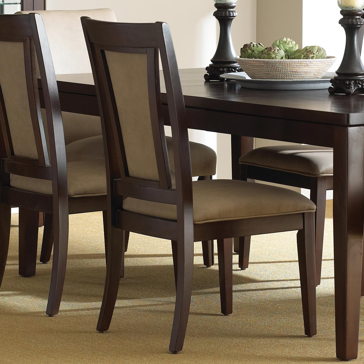Wilson Contemporary Dining Set Extension Table Espresso